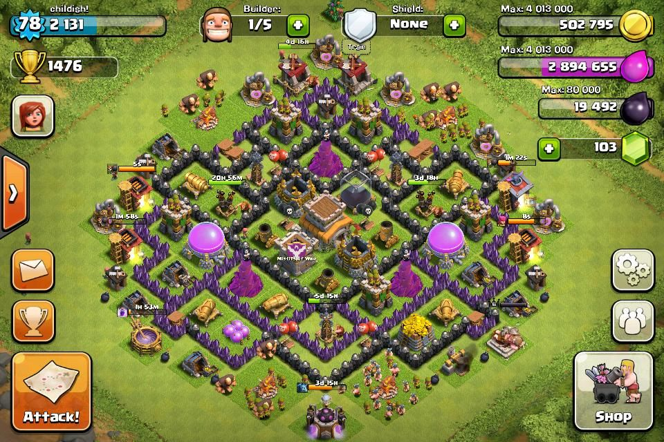 Base Coc Th 8 Max 11