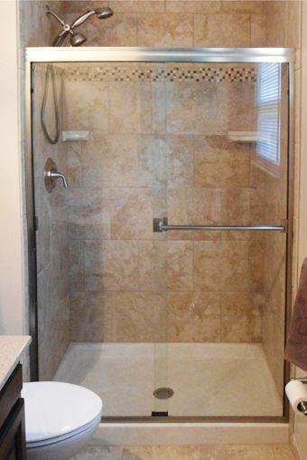 Classic 3500 Clear Glass Silver Frameless Sliding Shower Doors