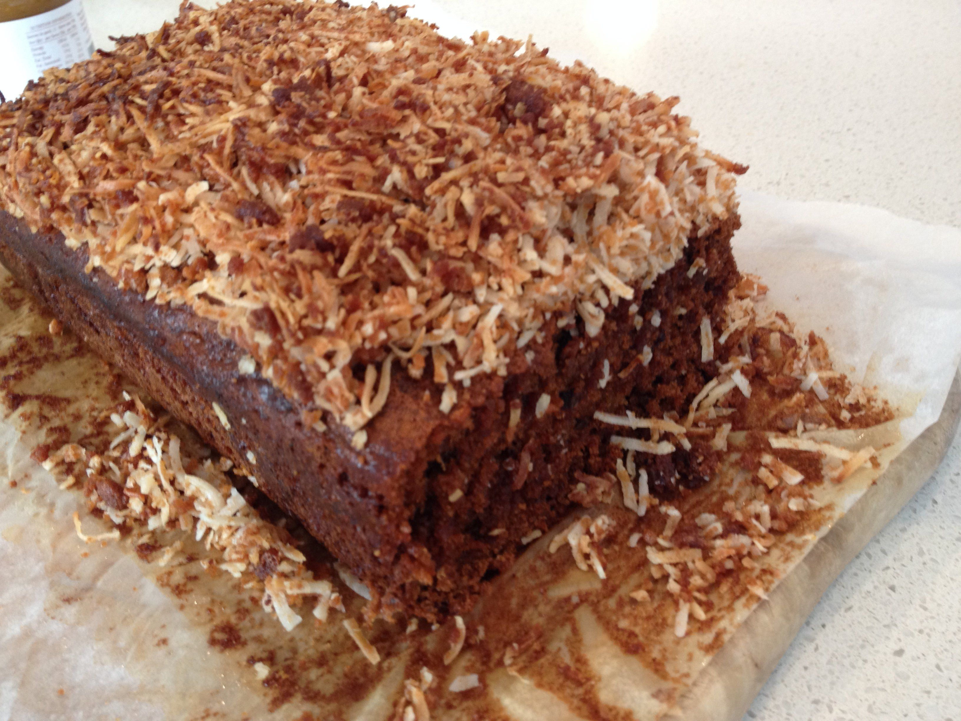 Ginger & Date Cake with Crunchy Coconut Topping Gourmet