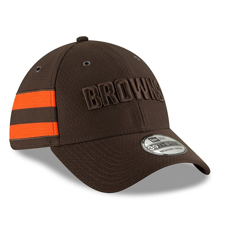new product c155f 2226c Cleveland Browns New Era 2018 NFL Sideline Color Rush Official 39THIRTY  Flex Hat – Brown