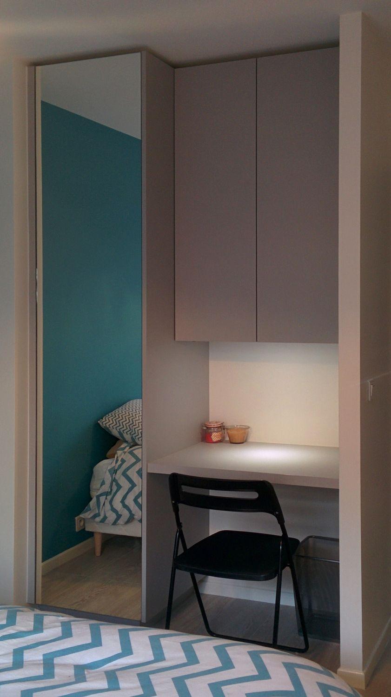 Dressing-bureau dans une chambre Façades et plateau Swisskrono U540 ...