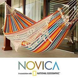 Medium image of cotton  u0027festive brazil u0027 hammock  brazil    overstock   shopping   the
