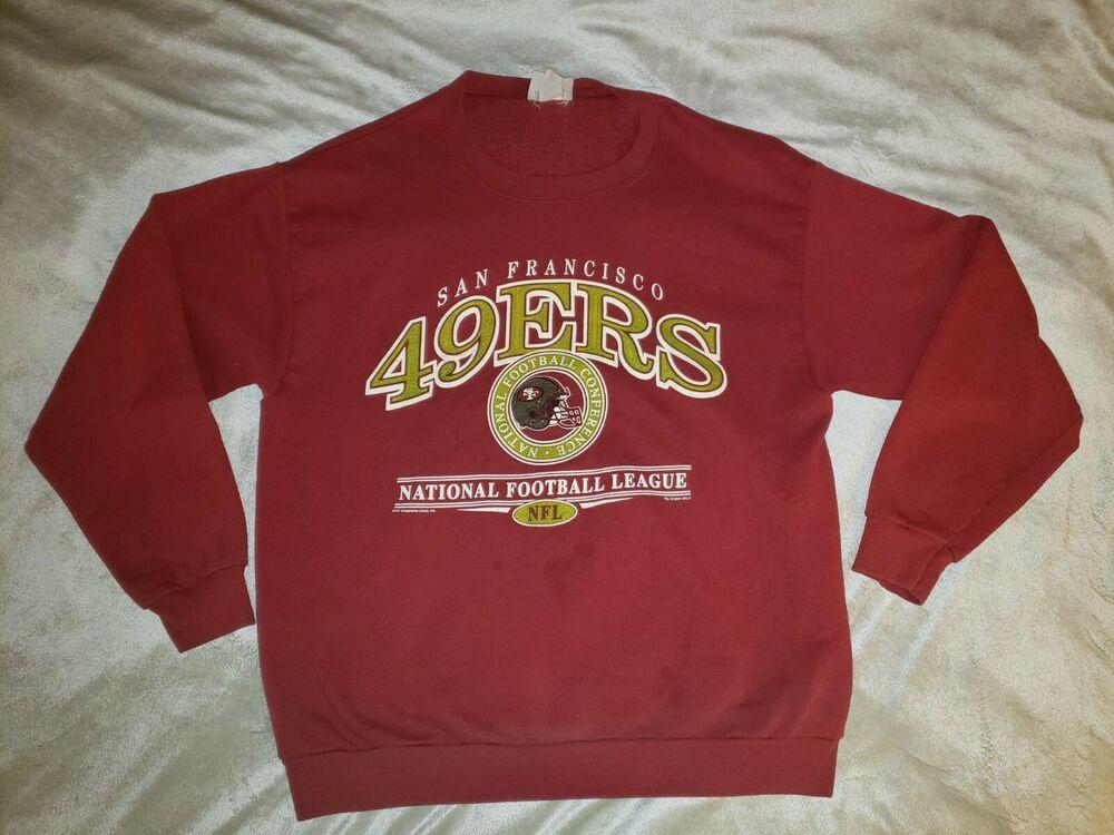 65b5d34f7 Vintage NFL San Francisco 49ers 2001 CSA Crewneck Sweatshirt Red NFC Men's  Large #fashion #