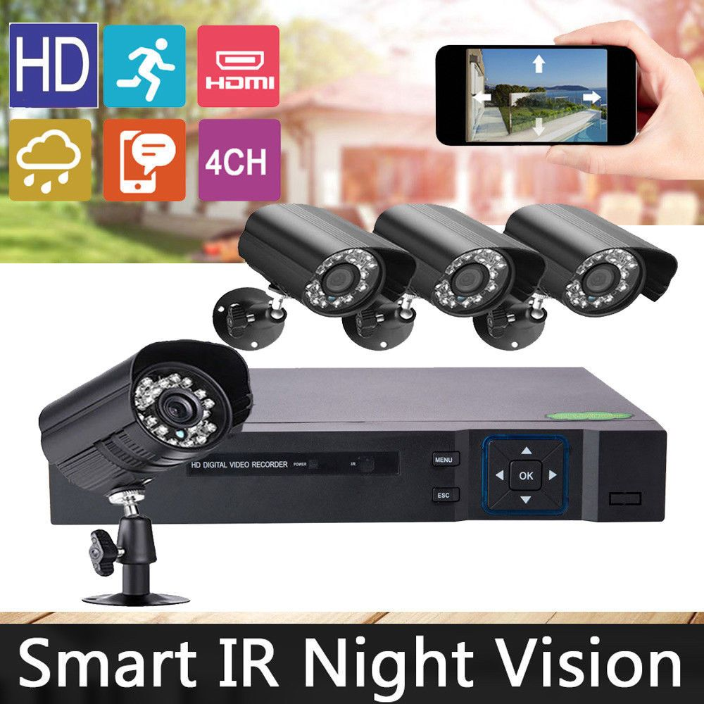 New 4-Channel 960H DVR Outdoor Waterproof IR Night Vision ... on New Vision Outdoor Living id=57771