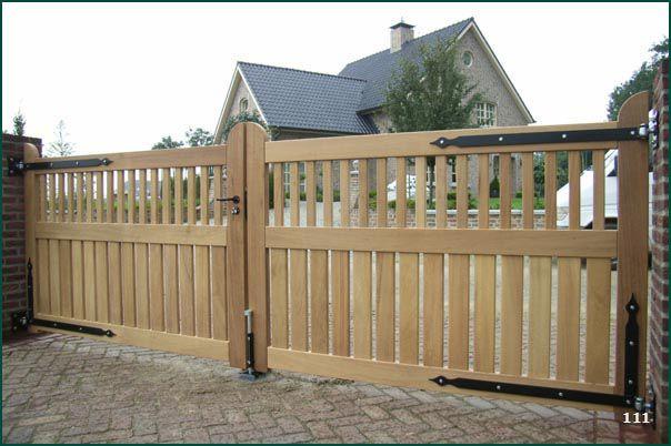 Wit houten toegangspoort google zoeken tuinhek pinterest zoeken google en hek - Tuin oprit plaat ...