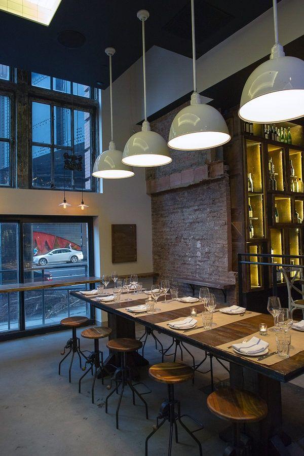 pin by nataly on resto modern restaurant brick restaurant red rh pinterest com