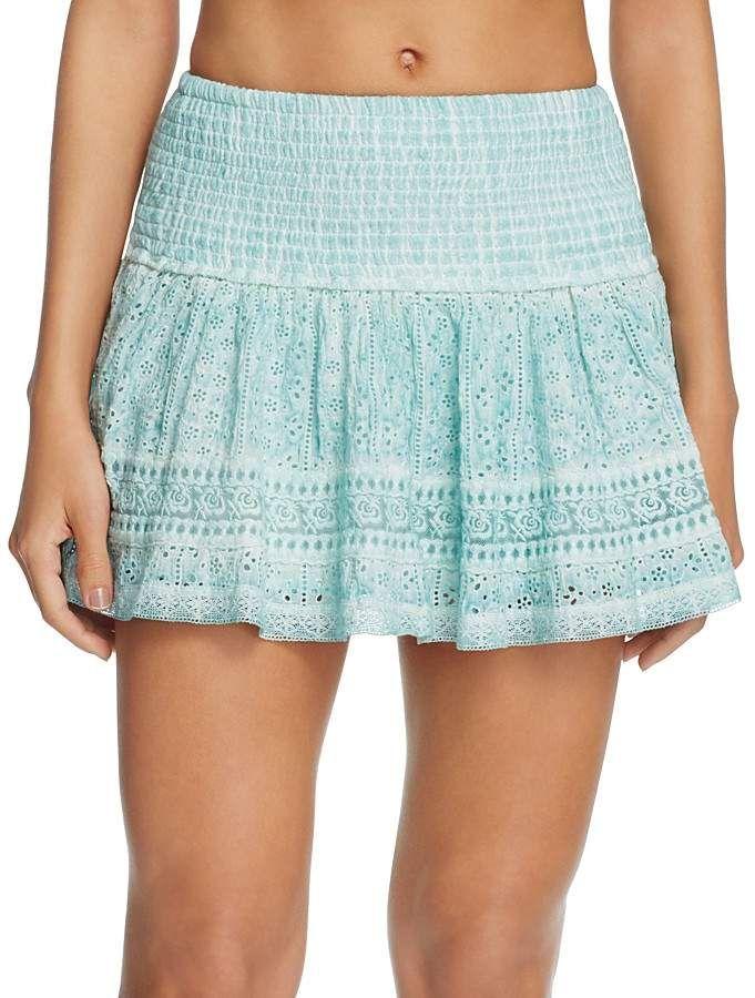 3267acab85 Surf Gypsy Washed Eyelet Mini Skirt Swim Cover-Up | Products | Mini ...