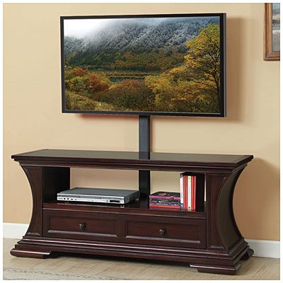 54 Cherry Glass Top Media Mount Tv Stand At Big Lots Xox On My