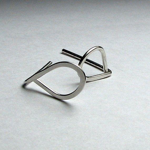 Sterling silver post earrings teardrop stud gift boxed