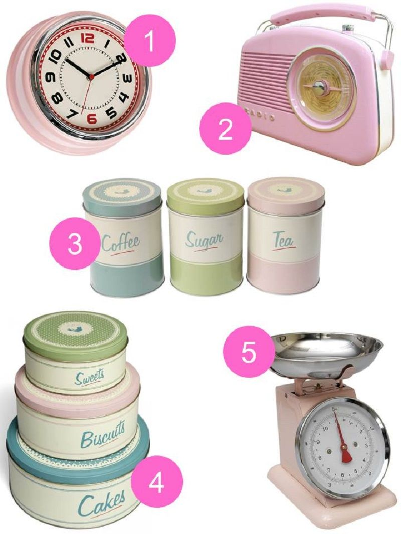 Pink Vintage Kitchen Accessories By Homegirl London Links Here Pantry Design Set Of Tea