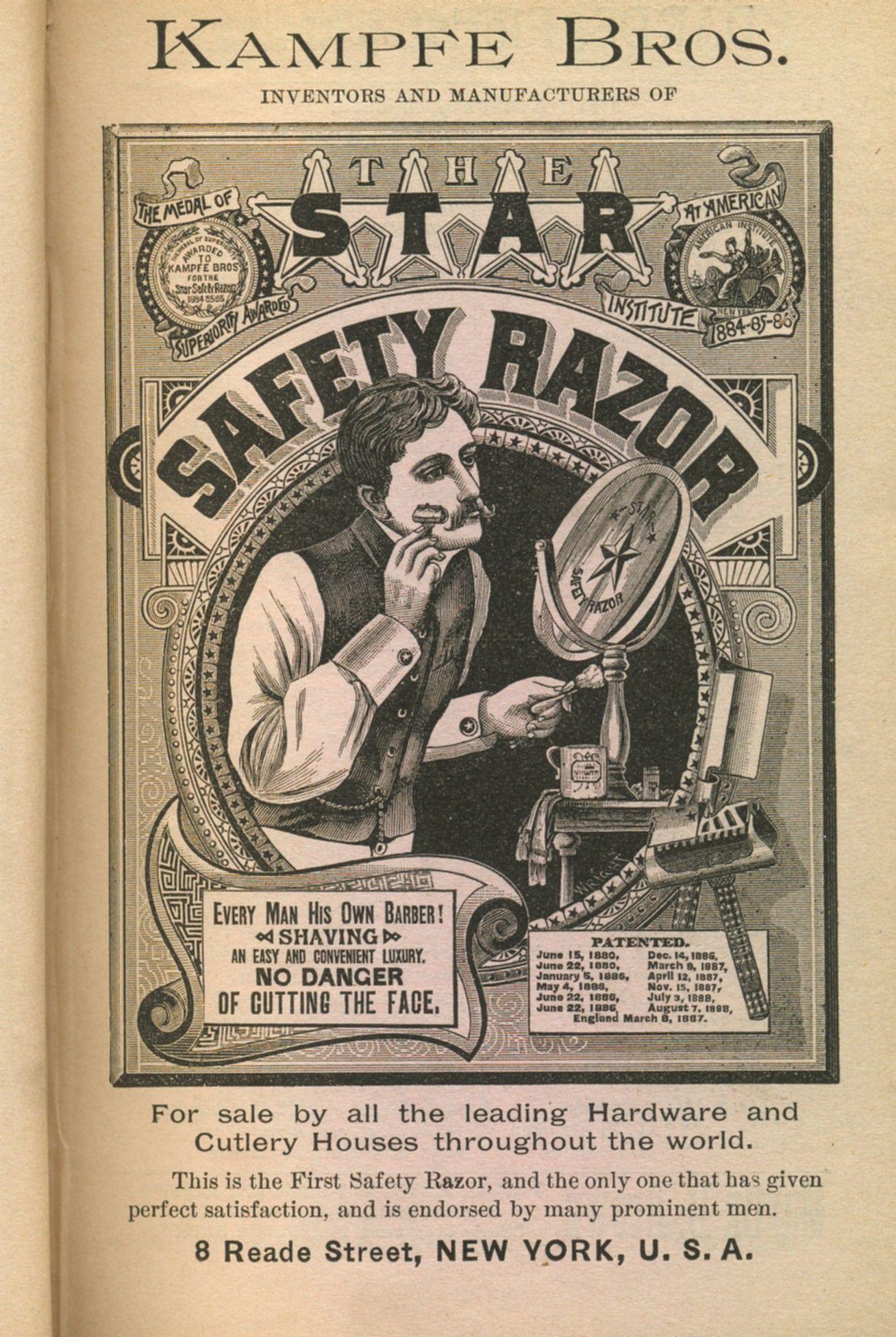 Lettering Ad Vintage Lettering Safety Razor Barber