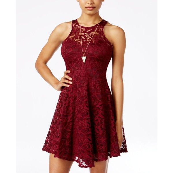 Red Lace Dresses for Juniors