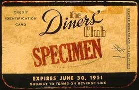 1950 The Diners Club Is The First Independent Credit Card Company