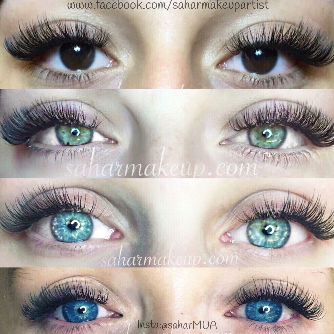 Eyelash Extensions By Sahar Makeup Russian Volume Lashes Master