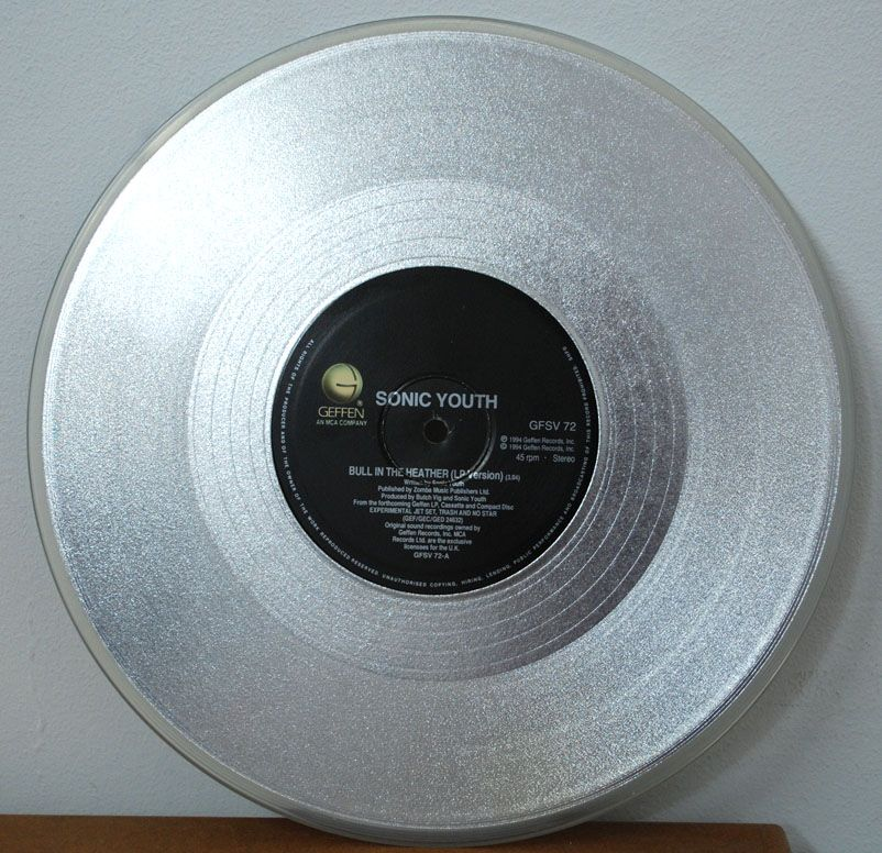 Sonic Youth Bull In The Heater 10 Silver Vinyl 12 Inch Sonic Youth Vinyl Vinyl Records
