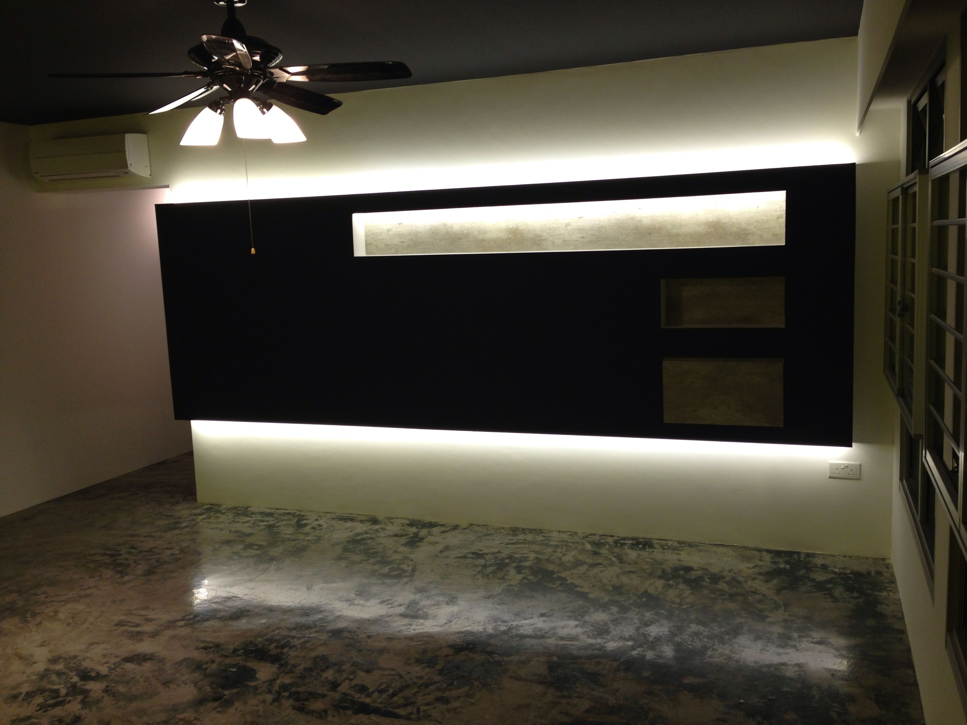 Feature Wall Lights In Living Room Intradesign My Bto