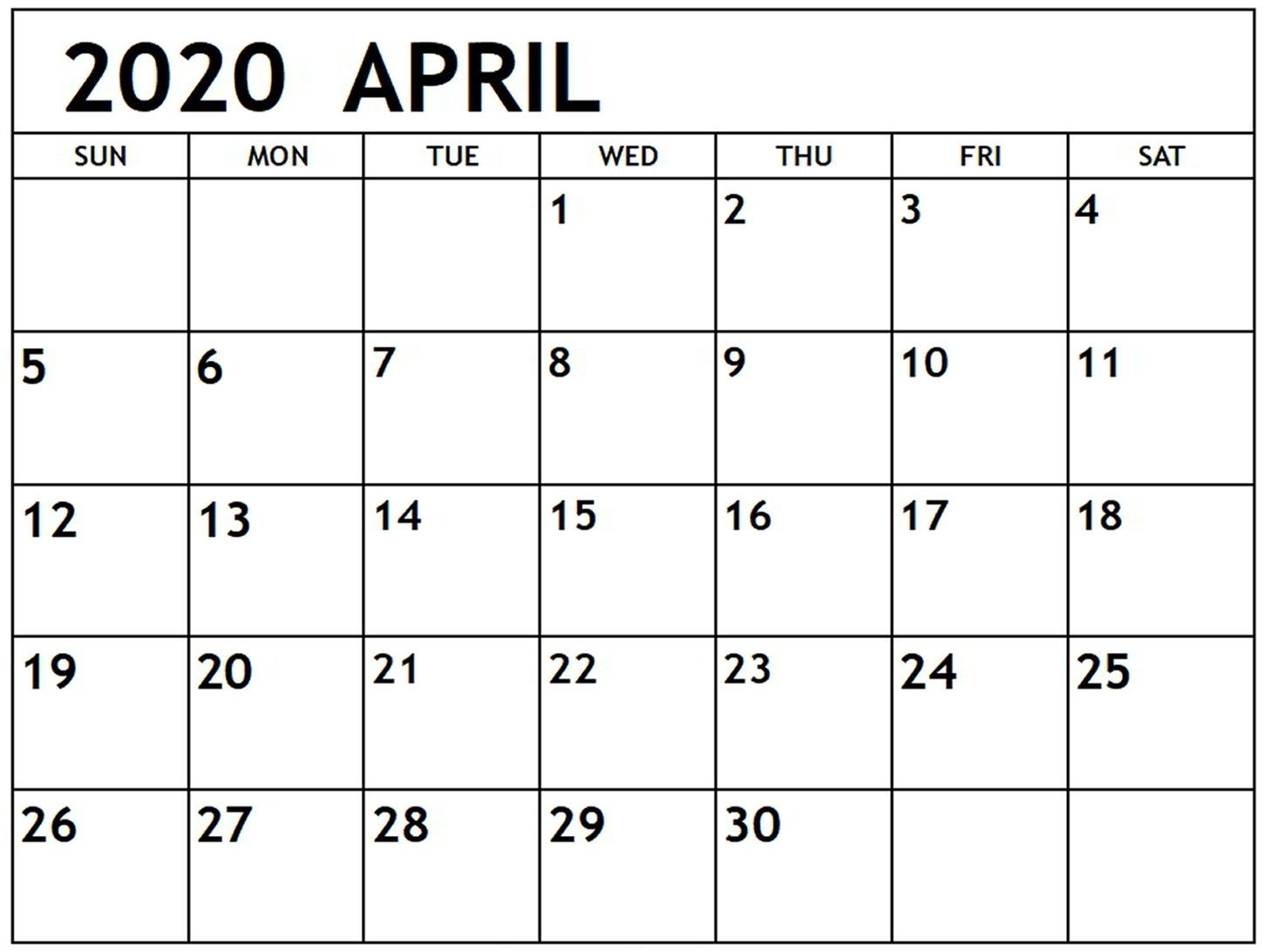 April 2020 Calendar Pdf Sheet For Exam Free Printable Calendar