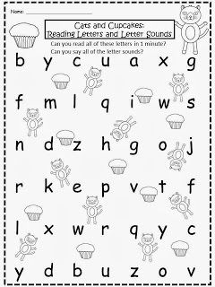 Freebie If You Give A Cat A Cupcake Letters And Sounds Free