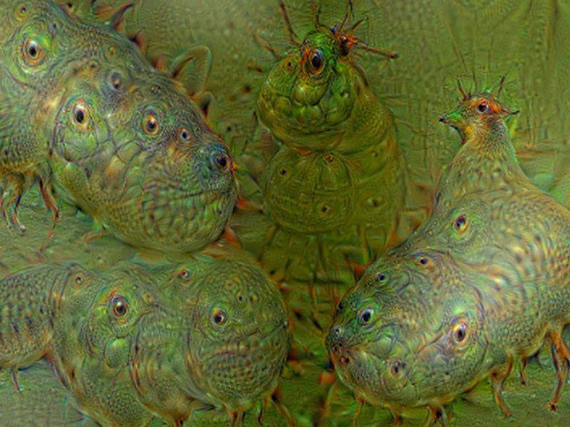 DeepDream: Fat worms