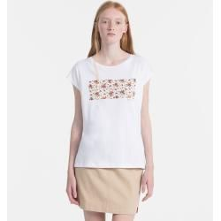 Photo of Calvin Klein Print Cap Sleeve T-Shirt S Calvin Klein