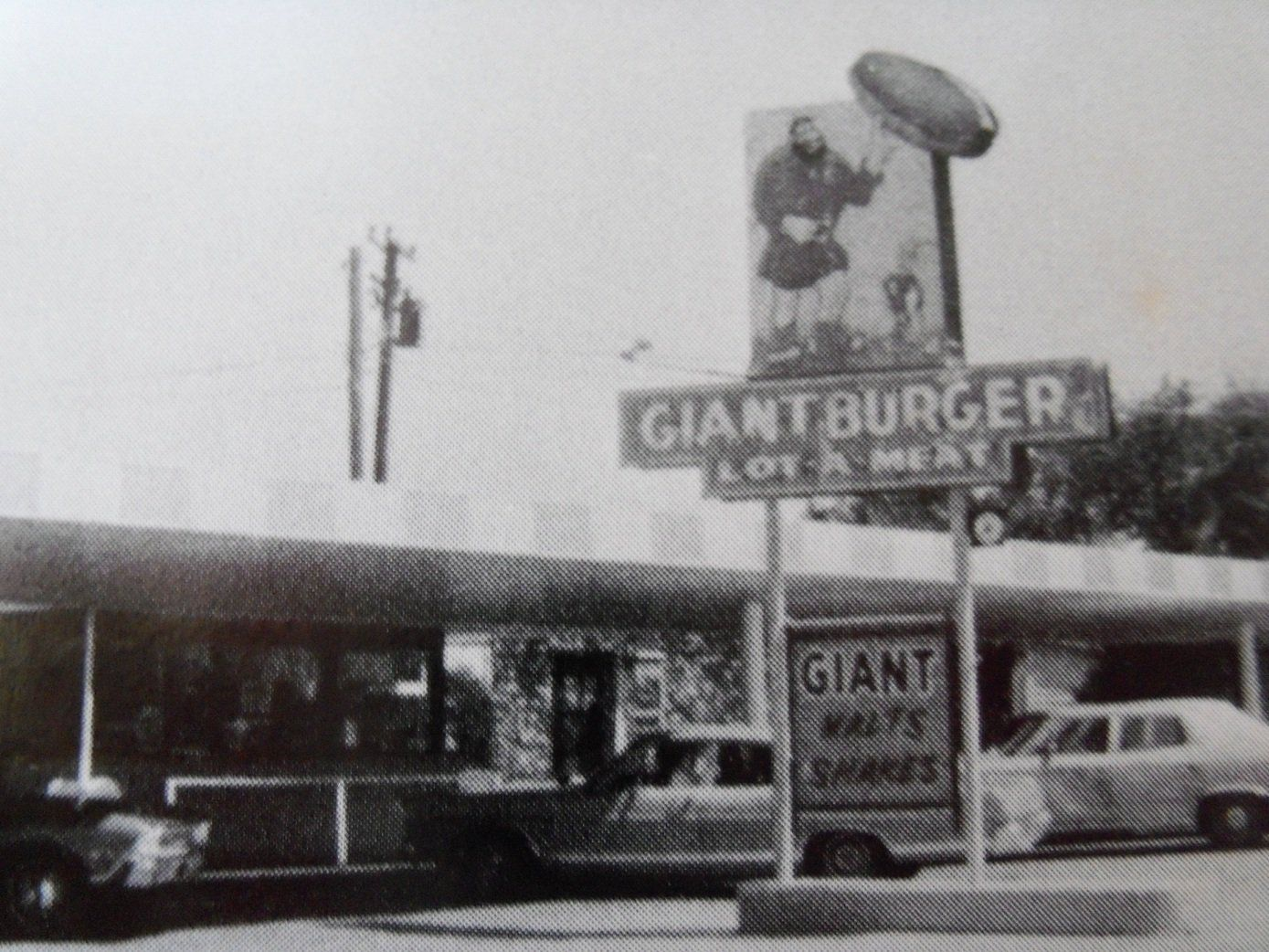 Vintage Beeville Giant Burger Drivein with the locally
