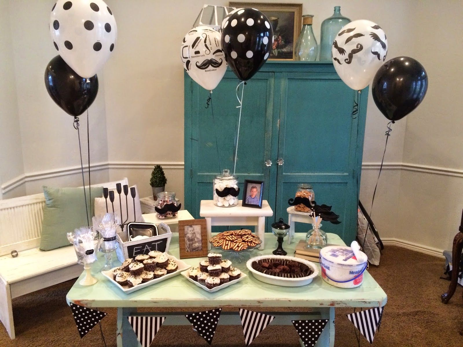 Thereddoor Birthday Party For A 1 Year Old Boy Birthday Party Themes Boy Birthday Parties Mustache Birthday Party