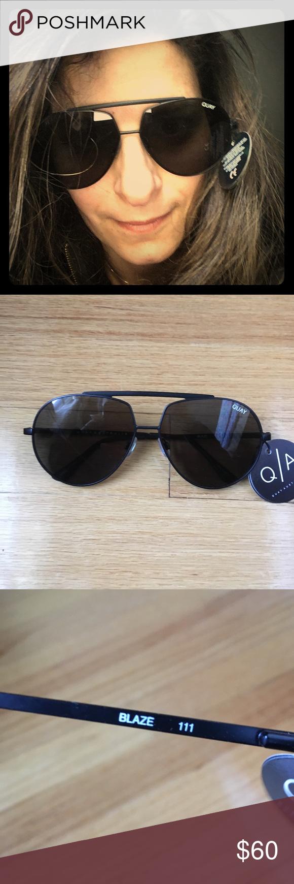 f92a28fbef606 NEW Quay Blaze black Aviator sunglasses New with tag. Case not included. Quay  Blaze