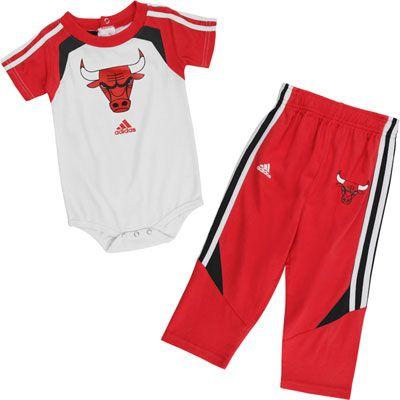 Chicago Bulls Infant Baby adidas Creeper and Pant Set  31.99  1a333bdda