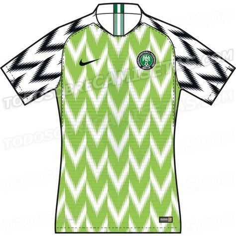 Nigeria 2018 World Cup Kits LEAKED  e0c619016
