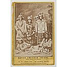 Cabinet Card of Indians in W.W. Cole's Side Show - inscribed to Charles Rench, clown who later set himself on fire.