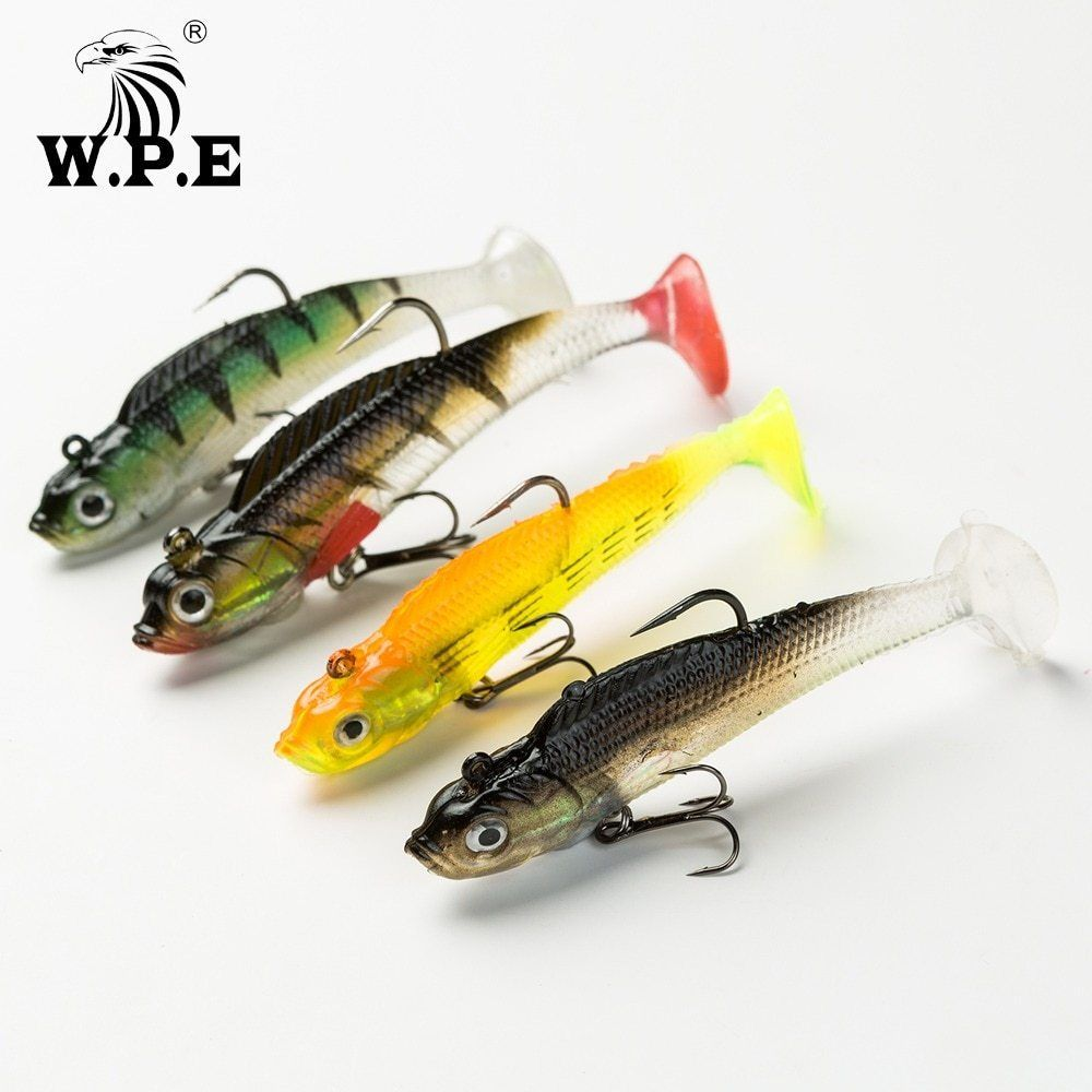 W P E Lead Head Soft Lure 8cm 10cm 12cm 14cm Bass Fishing Swimbait 1pcs 9g 42g Jig Fishing Lure Treble Hook Fishing Tackle Pe Fish Fishing Lures Fishing Tackle