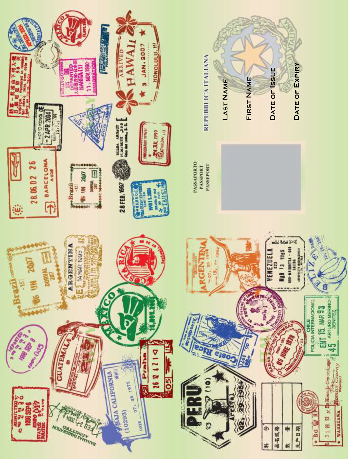 Free Printable Passport Template More  Free Passport Template For Kids