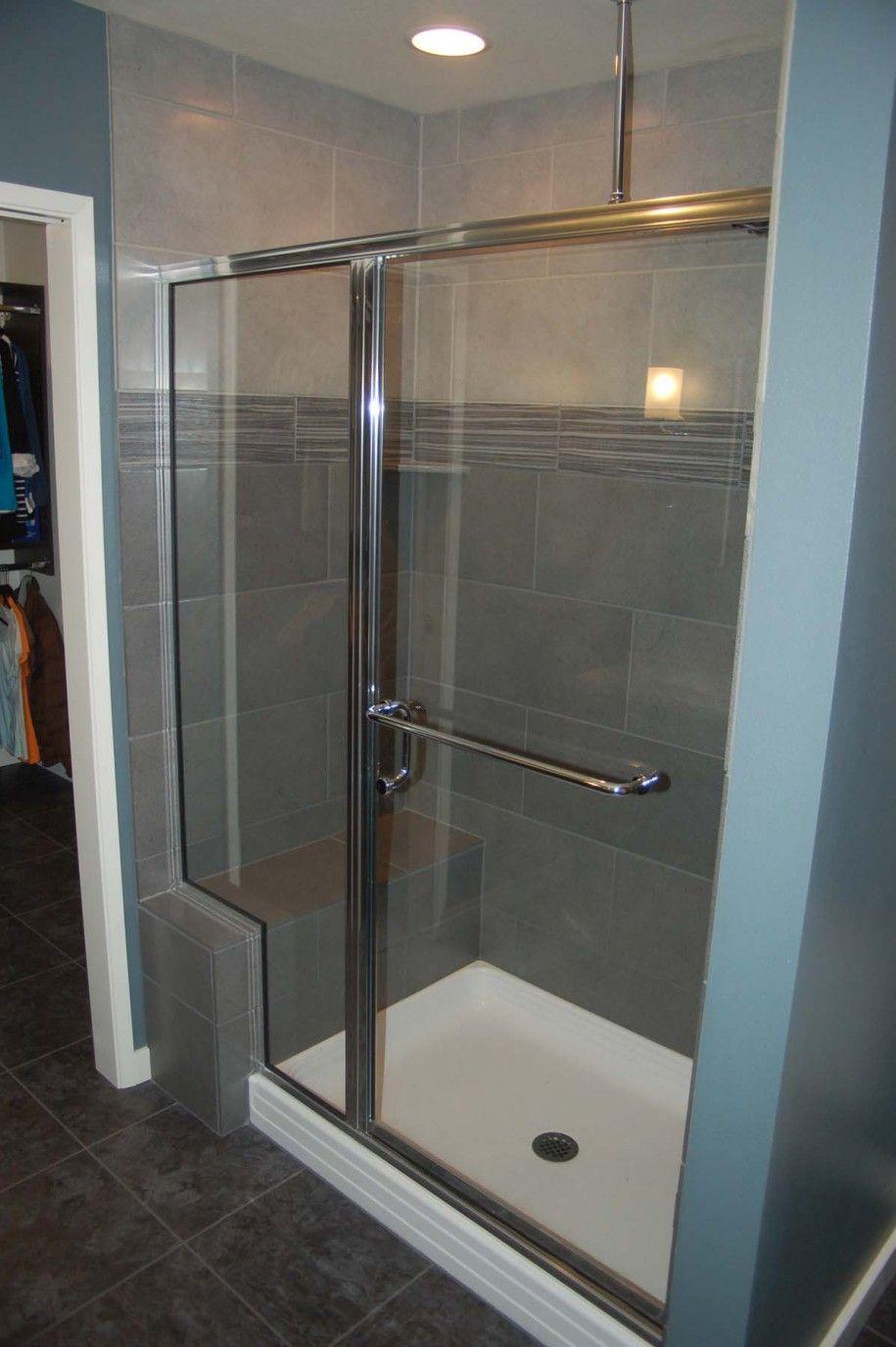 grey shower tile images | ... Bathroom in Eccentric Design ...