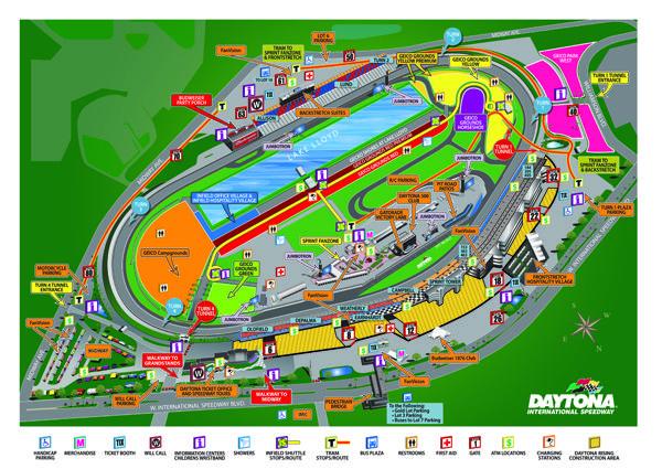 Maps Daytona International Speedway Daytona International Speedway Speedway Map
