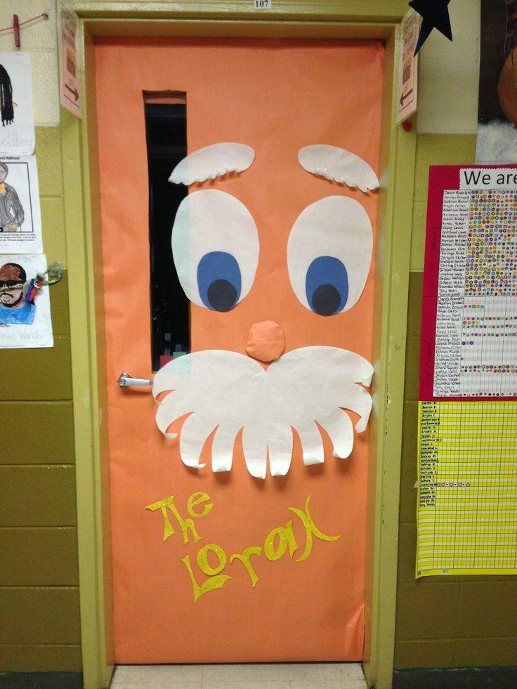 Dr. Seuss Door Decorating Ideas | The Lorax door ...