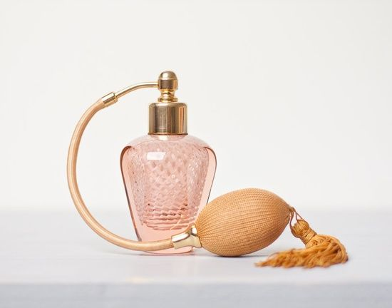 Gold Perfume Bottle Decor All Things Pink And Peach  Vintage French Perfume Bottle Atomizer