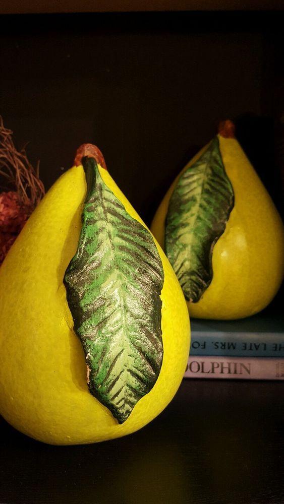 Large Ceramic Fruit Decor Fruit Accents Shelf Decor Accent Decor