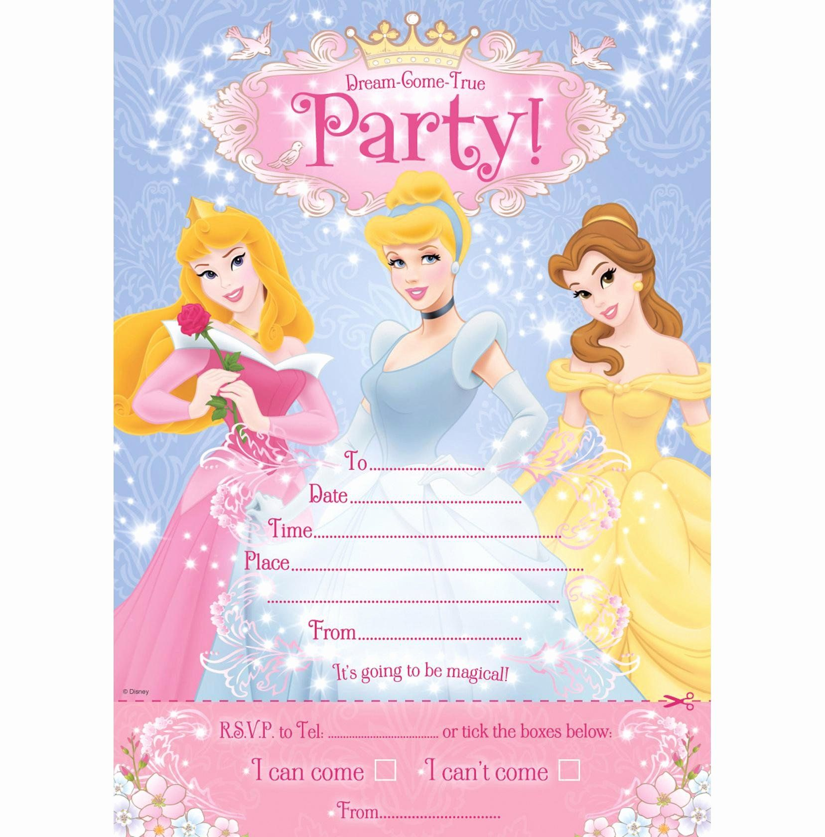 Disney Princess Invitation Template New 30th Birthday Invitations 30th Birthday Inv Disney Princess Invitations Princess Party Invitations Princess Invitations