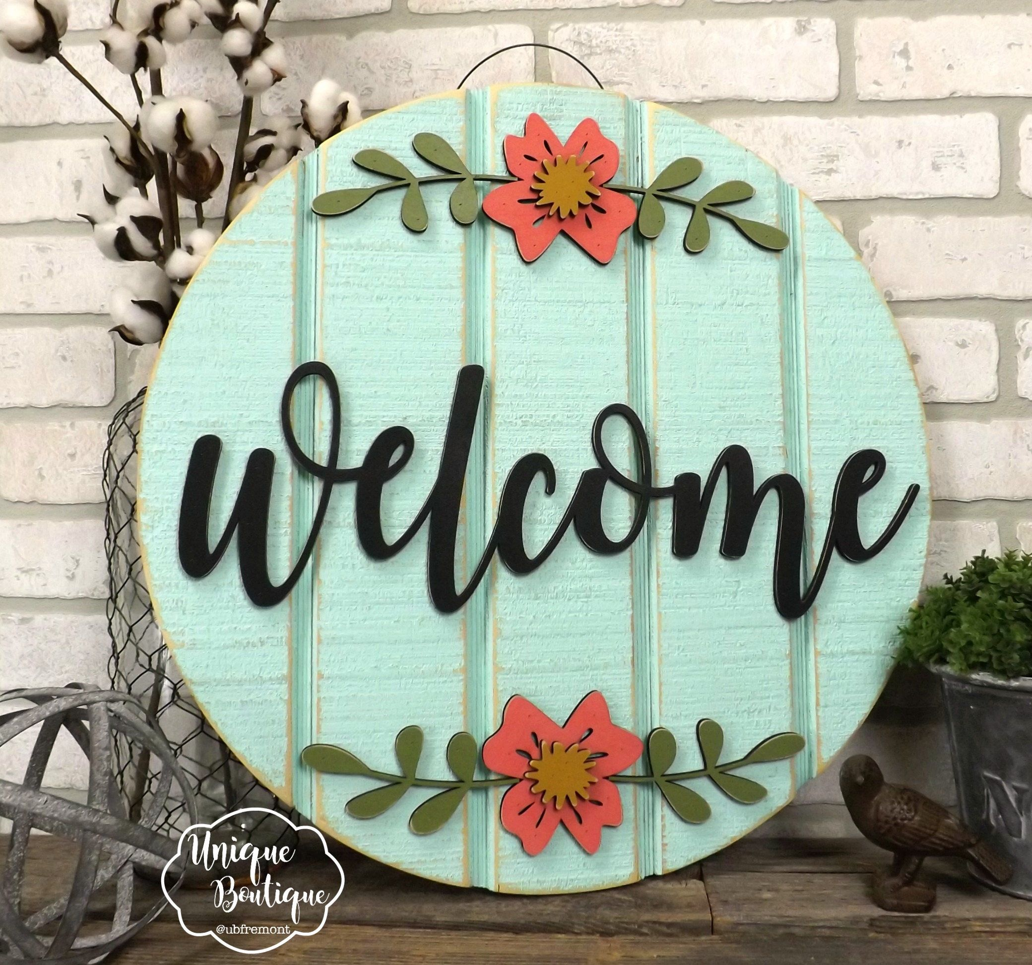 Front Door Decor Spring Door Sign Welcome Door Hanger Floral Wreath For Front Door Wood Sign Rustic Shiplap Sign Farmhouse Wall Decor Wooden Door Signs Spring Door Decoration Door Hangers Diy