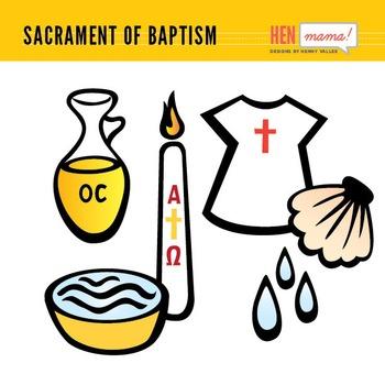 Sacrament Of Baptism Clip Arts Clipart Artists On Tpt Pinterest