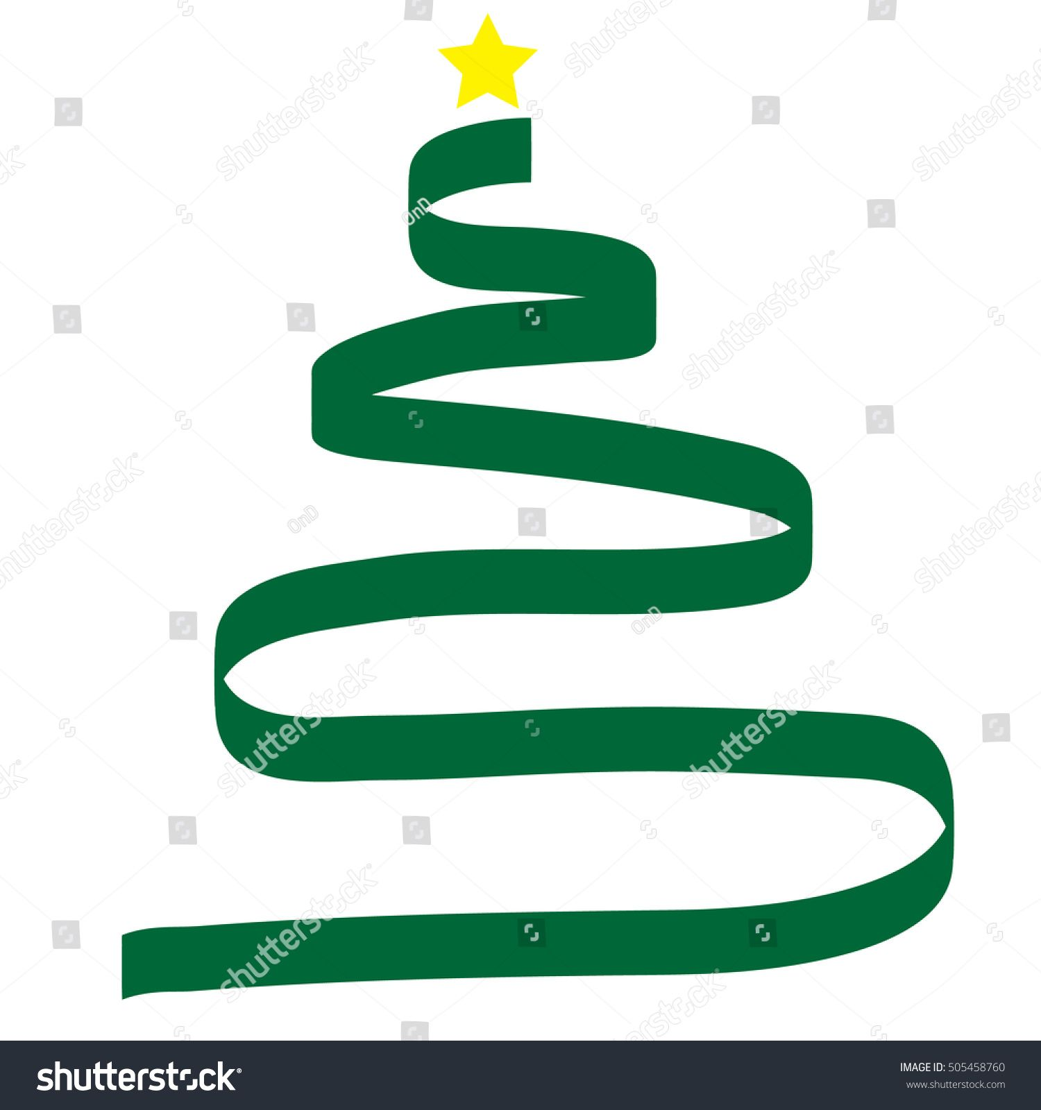 Stylized Green Ribbon Christmas Tree With Yellow Star Vector Illustration Ad Ad Ribbon Christmas Stylized G In 2020 Christmas Tree Yellow Green Ribbon Stylized