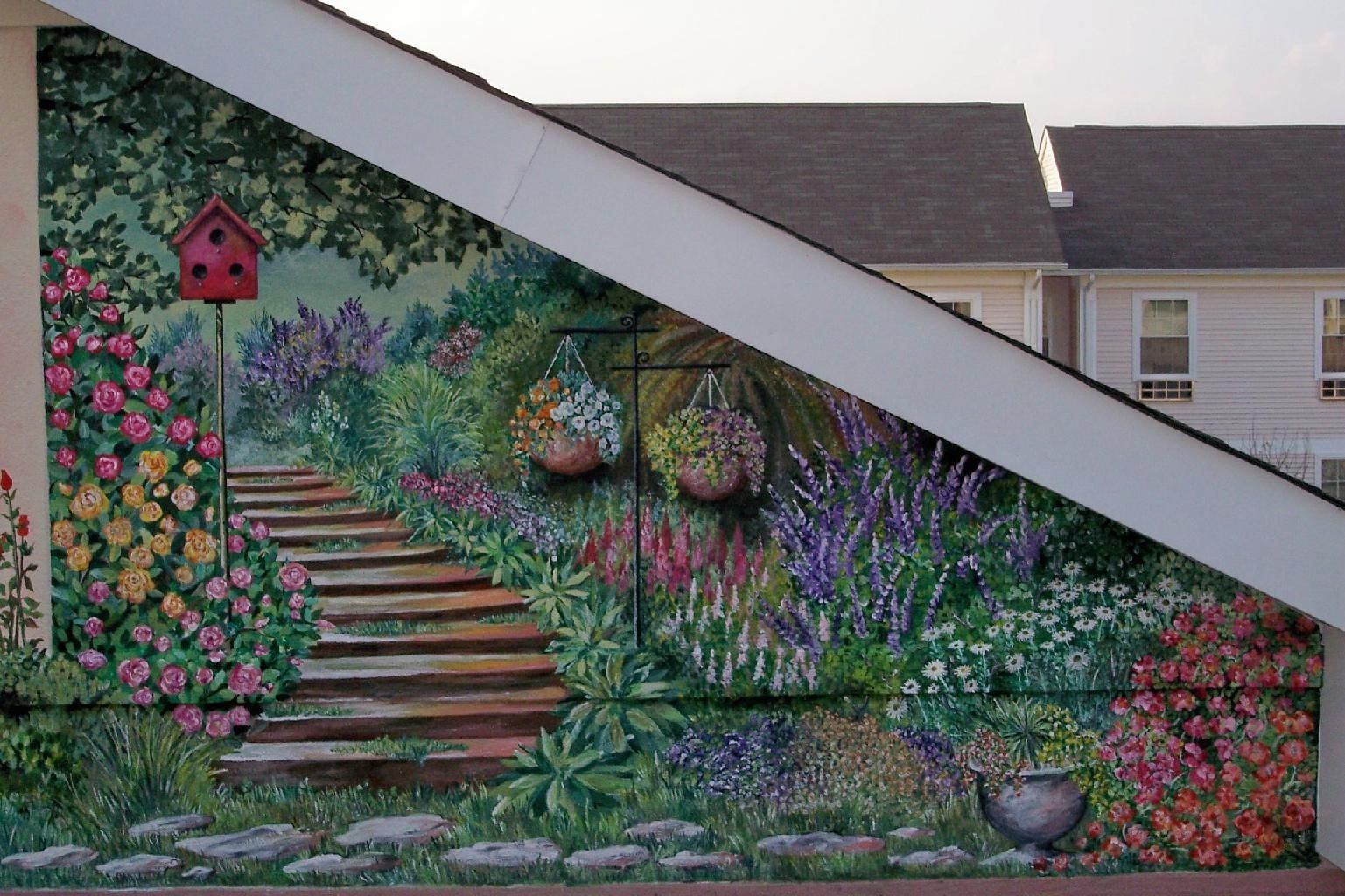 How to make outdoor wall murals home decor ideas - Exterior wall decorations for house ...