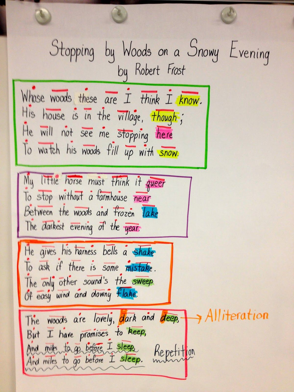 Poem With Repetition Examples