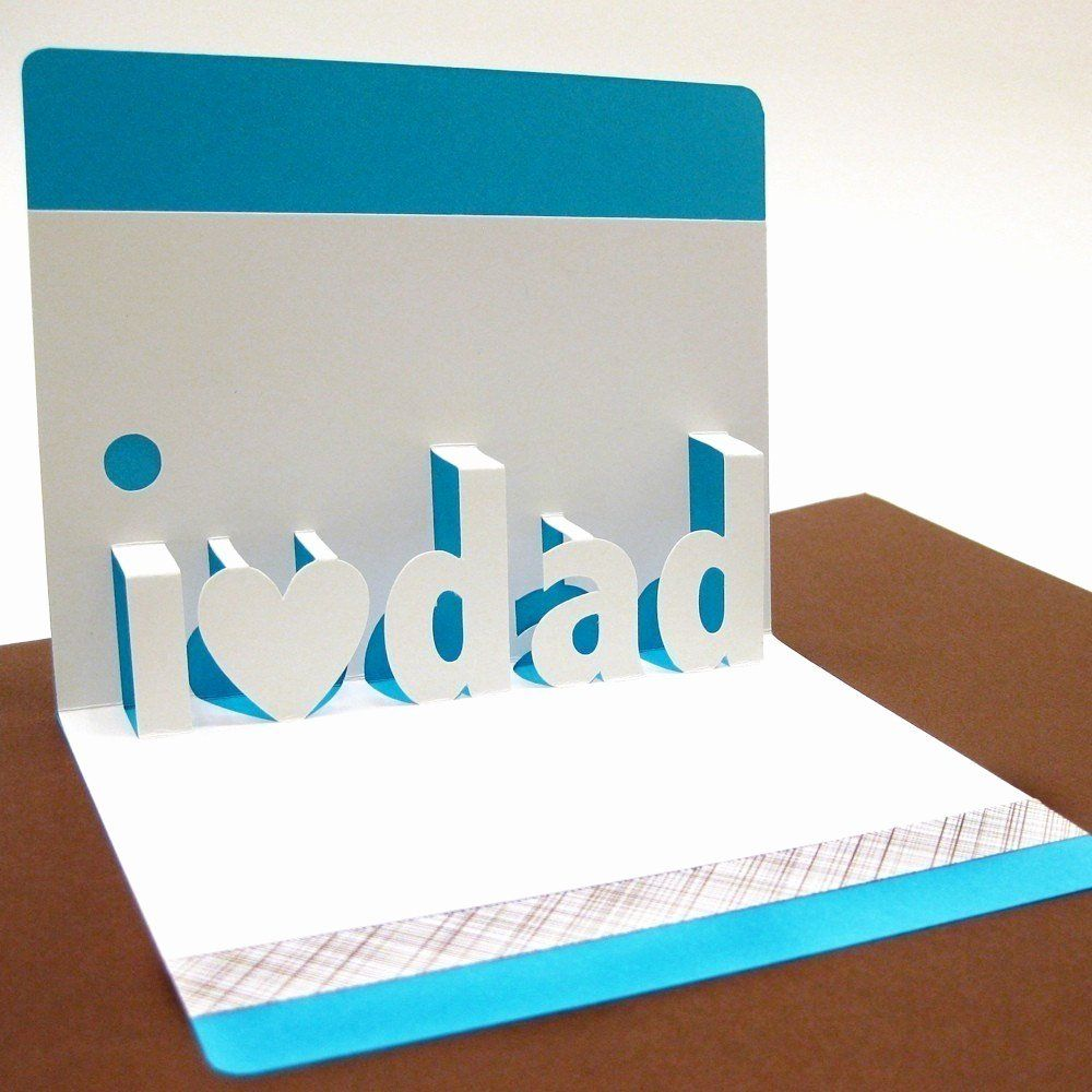 I Love You Pop Up Card Template New I Love Dad Pop Up Card Pop Up Card Templates Diy Father S Day Cards Pop Up Cards