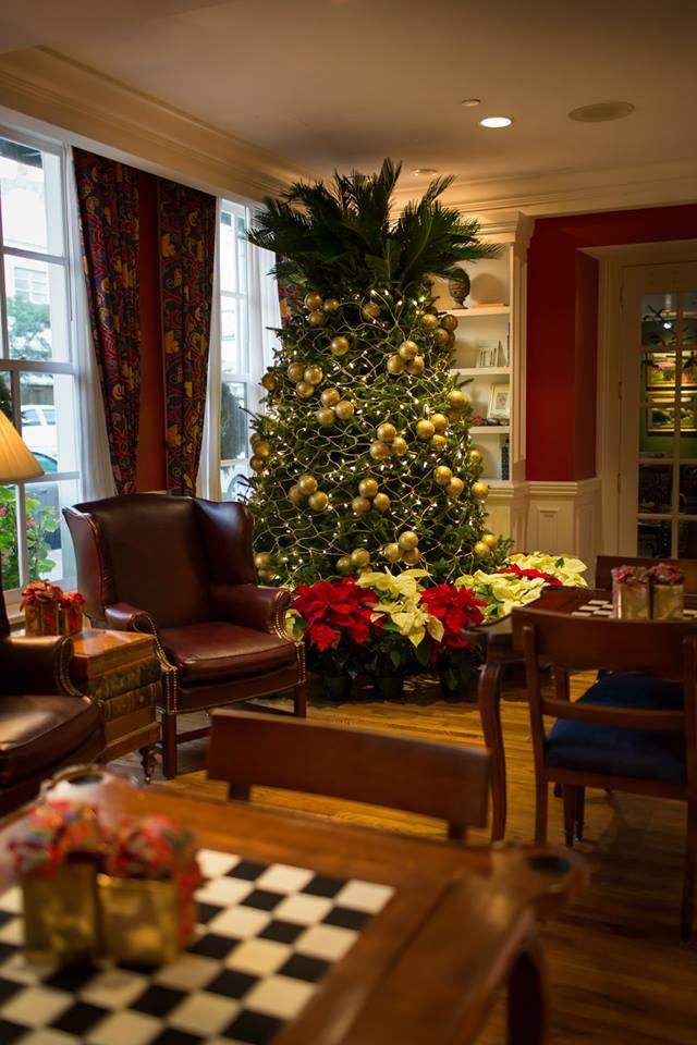 The Pineapple Christmas Tree At The Marshall House In Savannah, GA