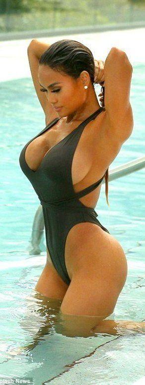Big tits thong bikini