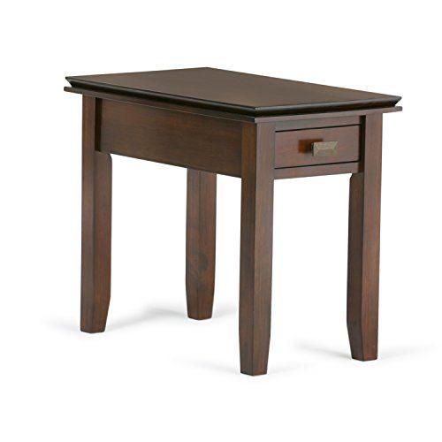 Simpli Home Artisan Narrow Side Table Medium Auburn Brown Click