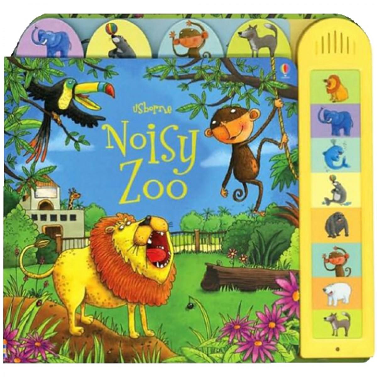 Usborne Noisy Zoo Board Book With Sound Zoo Book Zoo Usborne Books