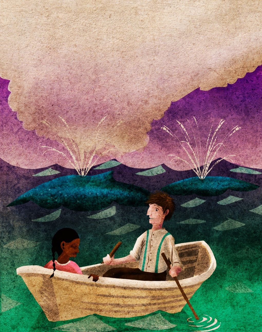 Illustration for Lizzie Bright & the Buckminster Boy published by McGraw-Hill