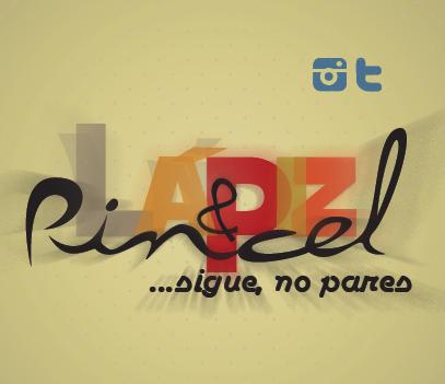 Nueva portada e icono de Lápiz & Pincel Sigue no pares (página de artes) -typography, tipografía